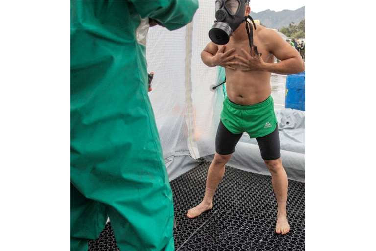 Decontamination of People in NBC incidents