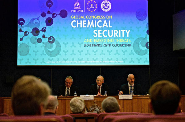 Global Congress on Chemical Security and Emerging Threats organized by INTERPOL, US Homeland Security and FBI.