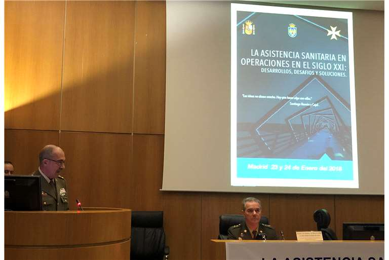 Hispano Vema lecture about management of CBRN casualties in Symposium of Joint Chiefs of Staff Spain