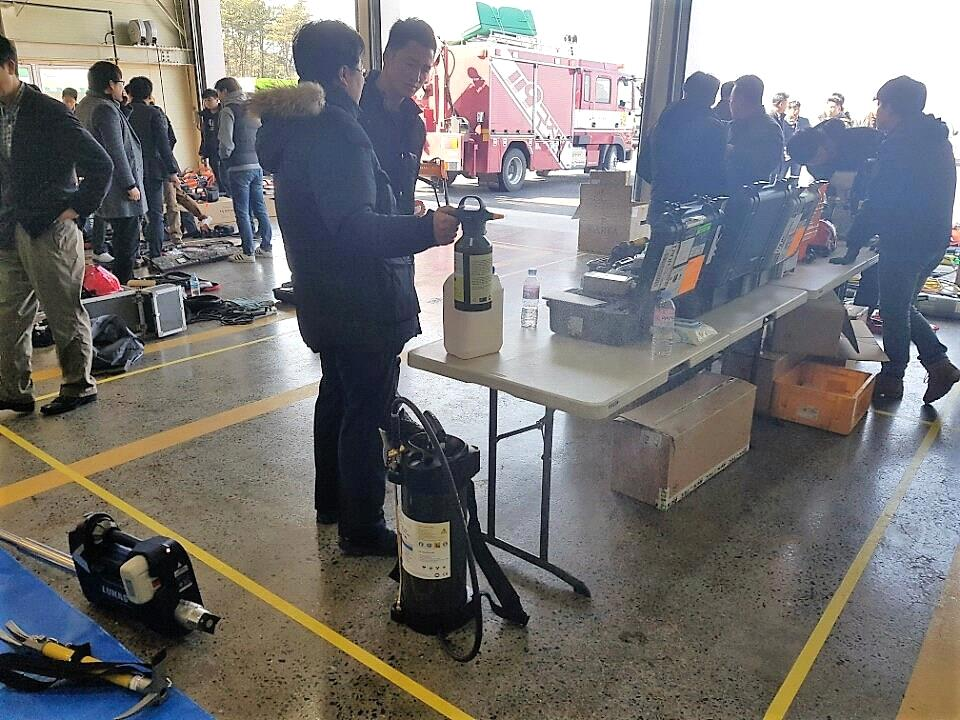 Portable Decontamination Units ATM2 & ATM10 presented at JeonNam and Ulsan Fire Department event in South Korea